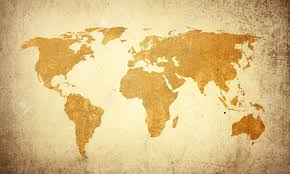 Map Of The World Background World Map Vintage Artwork Perfect Background With Space For