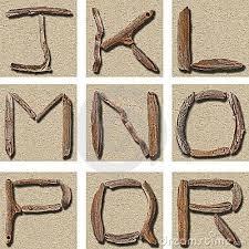 seamless tiling driftwood alphabet j