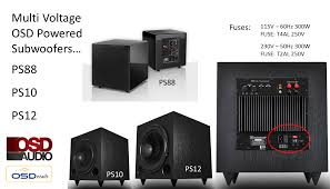 ps88 black lacquer piano finish subwoofer dual 8 woofer