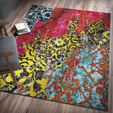 area rugs bright colored for classroom rainbow rug ikea adum coffee tables abstract modern