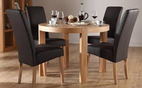 round dining table for 4 black leather