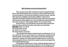 why did america lose the vietnam war a level history marked document image preview