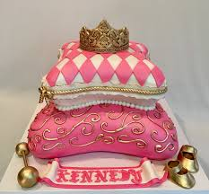 Mymonicakes Royal Princess Pillow Cake With Fondant Tiara Pillow