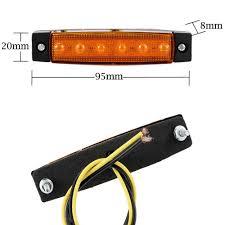 Trailer Side Marker Lights New 12v 6 Led Truck Boat Bus Trailer Side Marker Taillight Indicators Light Lamp Rear Lights