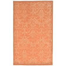 liora manne seville 9654 17 modern damask apricot area rug 42 inches x 66 inches