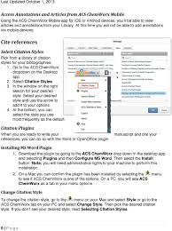 Acs Chemworx Quick User Guide Created By Acs Chemworx Pdf