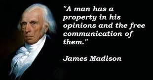 James Madison Quotes Simple President James Madison Quote On Freedom Of Opinion And Speaking