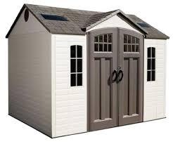 lifetime 10x8 plastic storage shed w floor