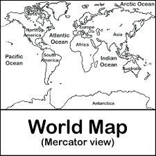 World Map Coloring Page Kids Pages Free Print Color Coded ...
