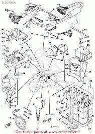Yamaha dt125 1976 usa electrical schematic partsfiche