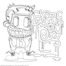 Cartoon Coloring Pages Printable 5 Funny Cartoon Character Coloring