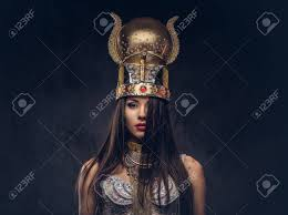 Portrait Of Haughty Egyptian Queen In An Ancient Pharaoh Costume. Stock  Photo   101204667