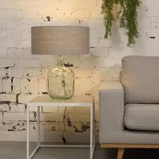 Murano Table Lamp Linen Light Grey L Goodmojo