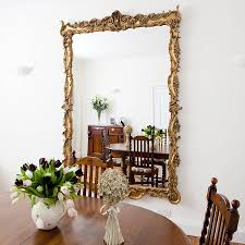 stunning large ornate gold mirror