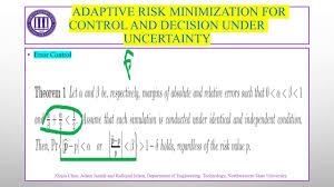 Adaptive risk minimization for control and decision under uncertainty