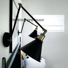 swing arm wall lamp mounted lamps retro two for bedroom bedside adjule lights plug in swing arm wall lamp