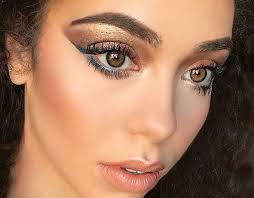 bronze dess eye makeup to make your hazel eyes pop pinit