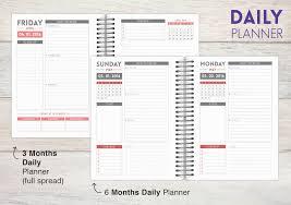 Custom Daily Planner Custom Homework Planners Personalized Homework Planners
