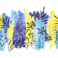 Forme Aquarelle G Om Trique Feuille Tropicale Mod Le Sans Couture