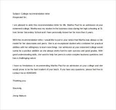 How To Write A Recommendation Letter For College Admission