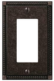 details about x4 hampton bay georgian wall plate aged bronze rocker switch 1000 033 271