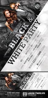 Flyer Black And White Black And White Party Flyer Facebook Cover Louis Twelve