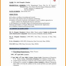 Resume Samples For Experienced School Teachers Valid Student ...