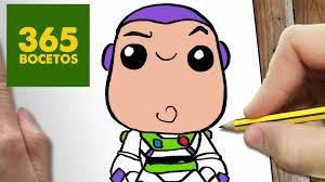 Como Dibujar Buzz Lightyear Kawaii Paso A Paso Dibujos Kawaii