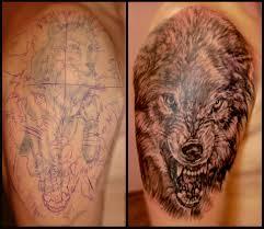 тату мужская на плече тату волк перекрытие тату тату мастер