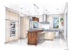 interior design hand drawings. Sketch Drawing Of A Kitchen With Island - Google Search Interior Design Hand Drawings