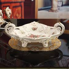 european ceramic fruit bowl large upscale luxury home living room coffee table decoration compote wedding housewarming