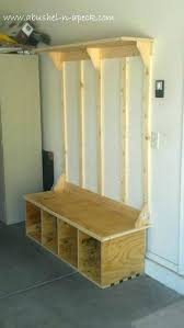entryway storage bench with coat rack plans org center for and canada plan