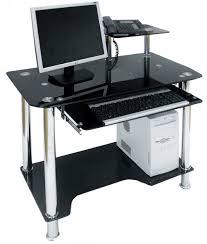 black glass computer table designs