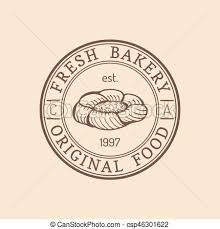 Vintage Bakery Logo Vector Typographic Poster Retro Emblem Sweet