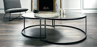 glass circular coffee table circular coffee table round glass chrome intended for nesting tables inspirations 0 circular glass coffee table nz