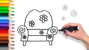 Learn How to Big Comfy Couch | Teach Drawing for Kids and Toddlers ...