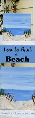 learn how to paint a fun beach scene easy enough for beginners and fun limited palette come paint with me flowerpatchfarmho