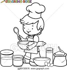 cooking clipart black and white. Brilliant Clipart Boy Cooking With Cooking Clipart Black And White I