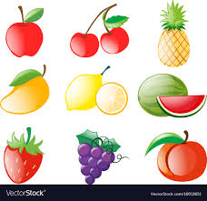 pictures of different fruit.  Different Different Types Of Fruits Vector Image Inside Pictures Of Fruit F