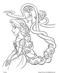 Small Picture Tangled Coloring Pages Earlymomentscom
