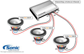 dual 1 ohm subwoofer wiring diagram wirdig channel amp 2 speakers 1 sub wiring diagram wiring amp engine
