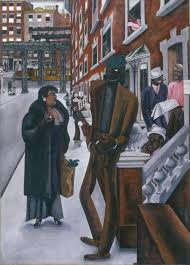 edward burra harlem 1934 brush and ink and gouache on paper support 794 x 571
