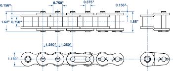 Roller Chain Strength Chart 100 Roller Chain 10ft Box