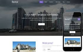 Real Estate Website Templates Gorgeous Rental A Real Estate Category Responsive Web Template W28layouts