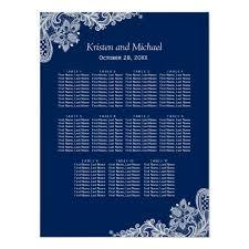 Elegant Navy Blue Lace Wedding Seating Chart