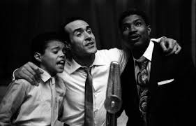 Augustine Rios, Ricardo Maltaban and Ossie Davis rehearshing for 'Jamaica'  Broadway show (1957) "