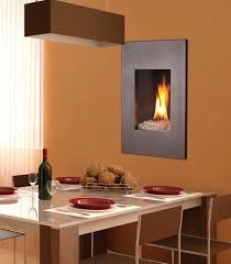 in wall fireplace gas decorating ideas in small contemporary gas fireplace on orange wall of square