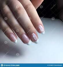 Cuticle Design French Manicure On The Nails French Manicure Design