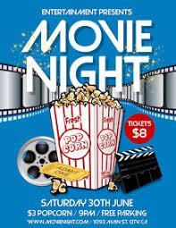 Free Movie Night Flyer Templates 260 Movie Night Customizable Design Templates Postermywall