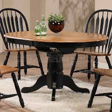 black round dining table and chairs. Missouri Round Dining Table (Black/ Rustic Oak) Black And Chairs X